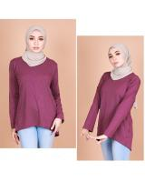 QA-820 LOW BASIC BLOUSE PURPLE