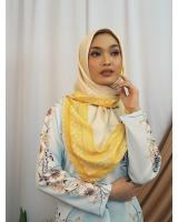 SW5437 Floral Printed (IRONLESS) Scarf Yellow