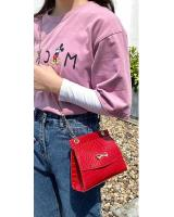 KW80869 Ribbon Sling Bag Red