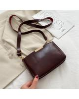KW80870 Metal Sling Handbag Dark Brown