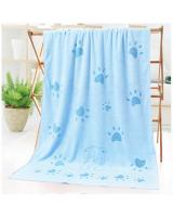 KW80880 Microfiber Bear Sun Towel Blue