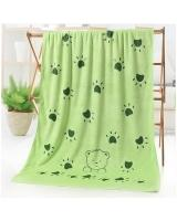 KW80880 Microfiber Bear Sun Towel Green