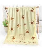 KW80880 Microfiber Bear Sun Towel Yellow