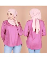 QA-834 FLOWER LACE BLOUSE HOT PINK