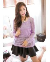 BM71364 Korean Stylish Top Purple