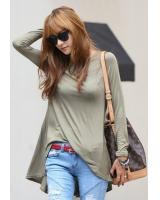BM71365 Korean Basic Casual Top As Picture