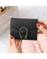 KW80919 Women's Short Wallet Black