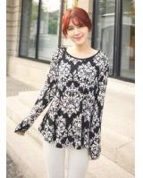 BM71381 Casual Printed Top As Picture