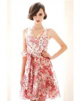 BM71422 Sexy Korean Floral Dress As Picture