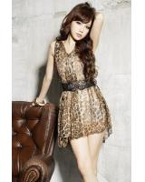 BM71461 Leopard Sexy Dress As Picture