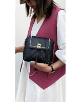 KW80959 Quilted Sling Bag Black