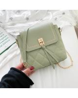 KW80959 Quilted Sling Bag Green