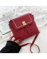 KW80959 Quilted Sling Bag Red