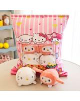 Hello Kitty Series Japanese Creative Pudding Plush  Snack Pillow Cushion Toys