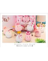 Rabbit Series Japanese Creative Pudding Plush  Snack Pillow Cushion Toys