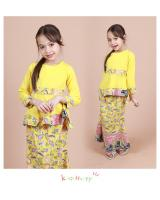 QA-852 - Kids Peplum Baju Kurung Yellow
