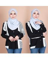 QA-868 - Trendy Maze Vintage Blouse Black