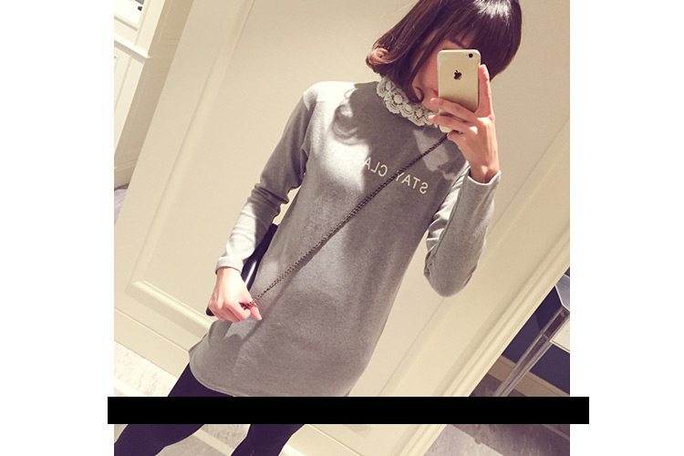 WT5542 Fashion Long Top Grey