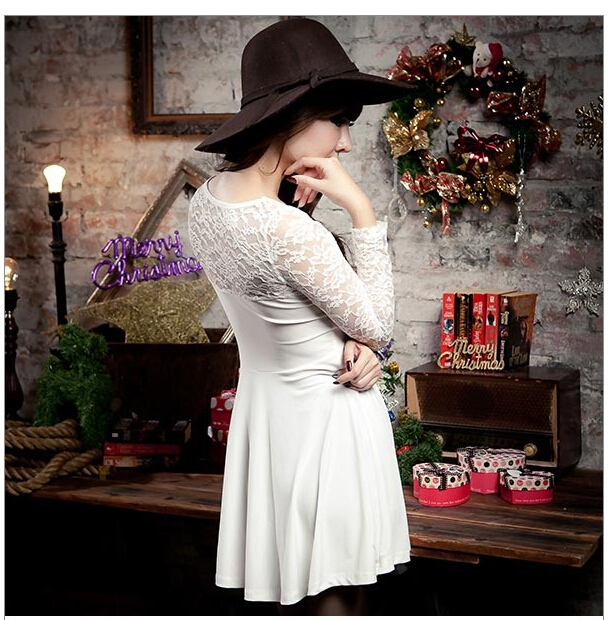 WD5684 Pretty Lace Dress White