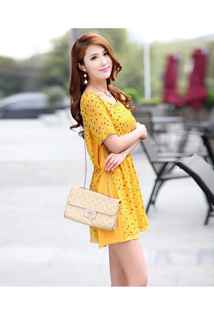 WD5709 Lovely Dress Yellow