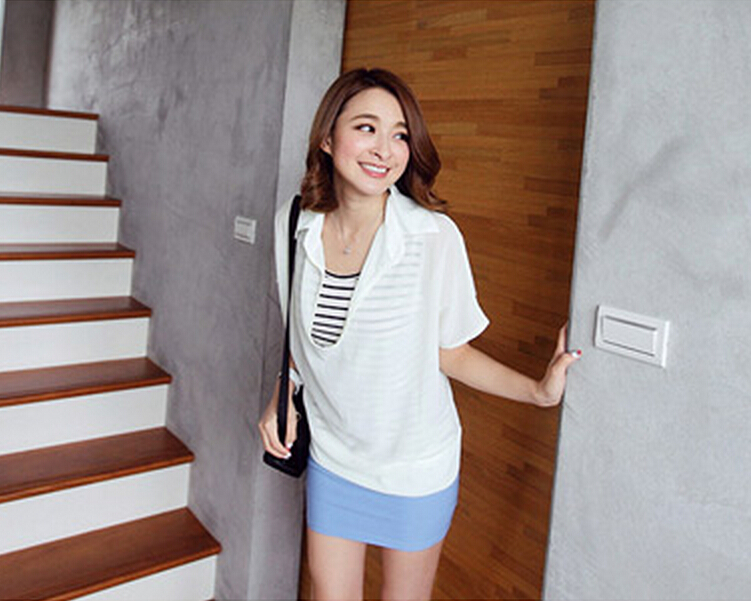 WT5771 Two Pieces Top White