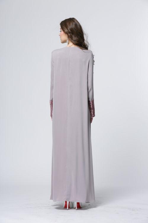 WH3330 Stylish Jubah Grey