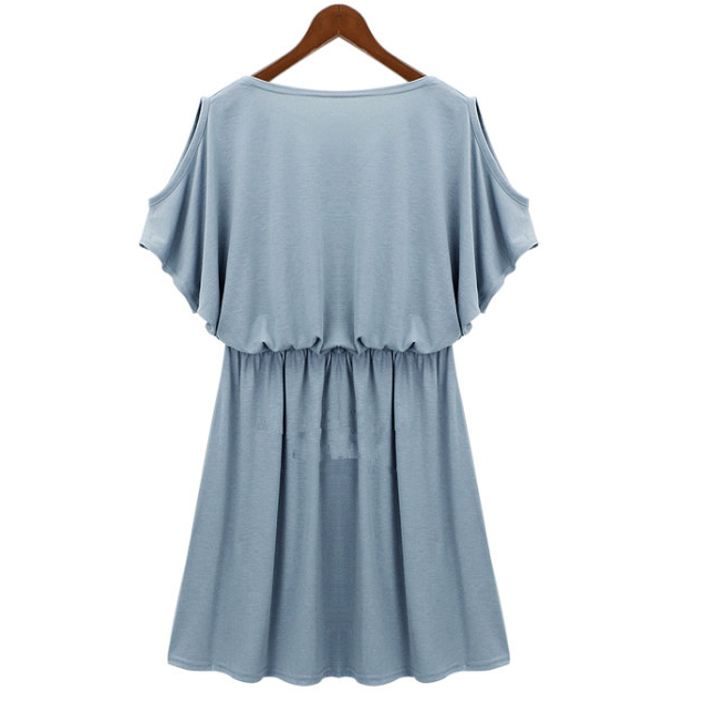 WD5818 Stylish Dress Light Blue