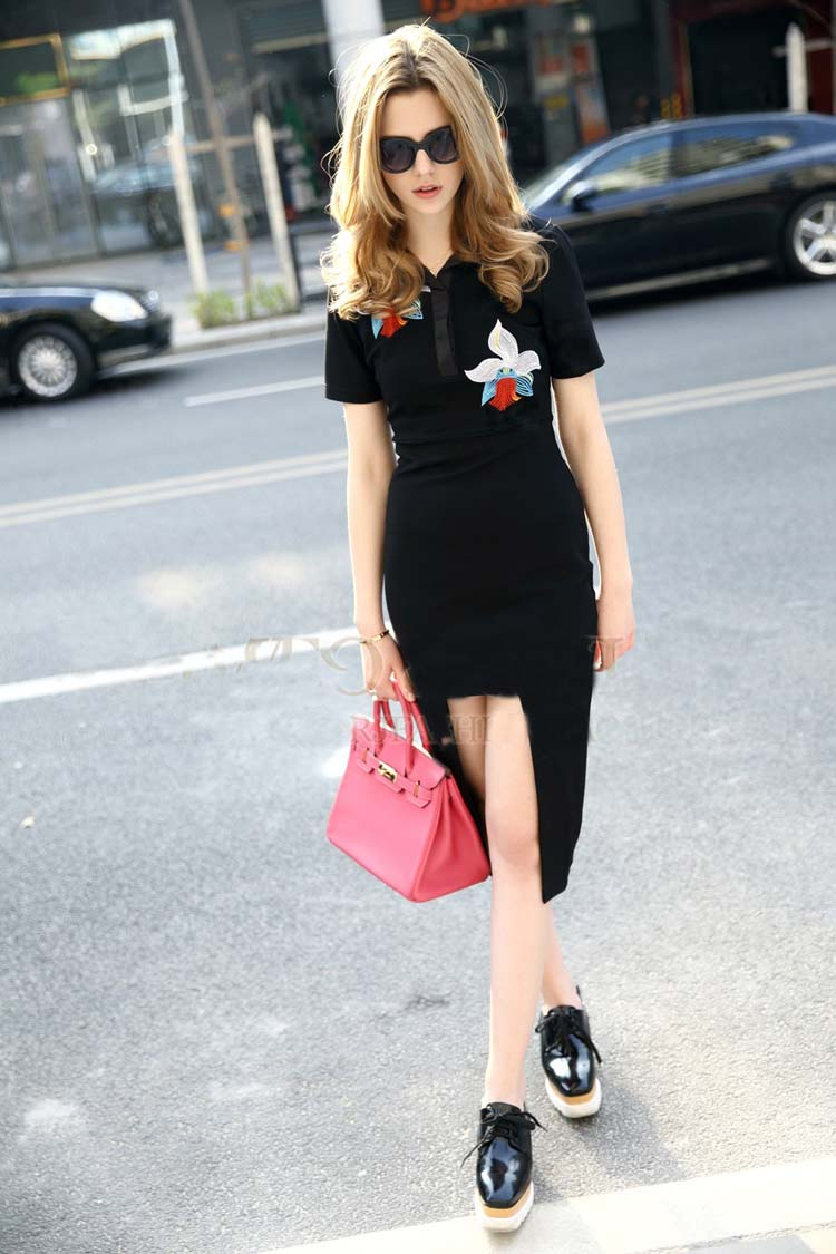 WD5979 Europe Fashion Dress Black