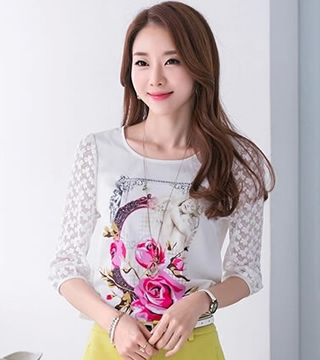 WT6140 Fashion Top White