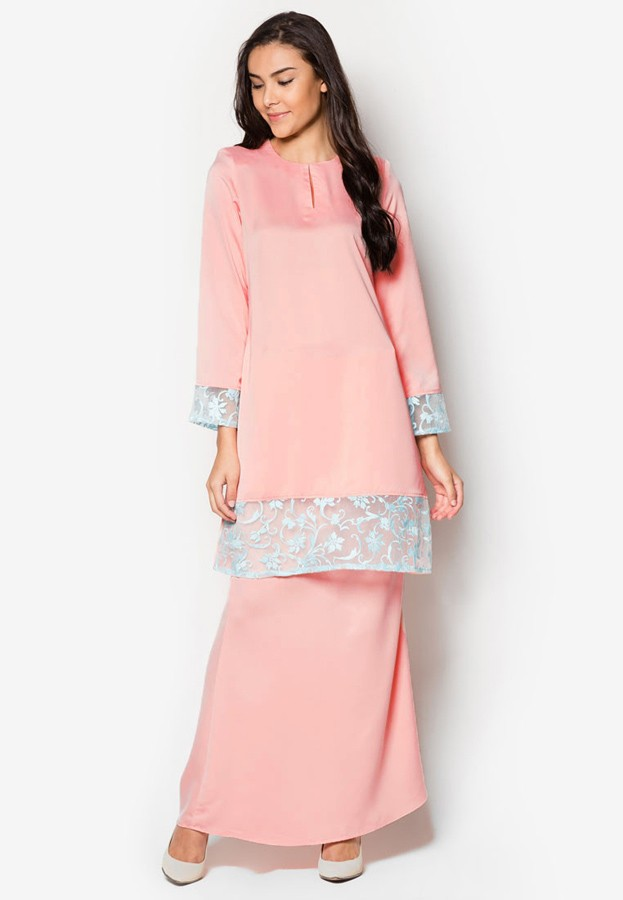WH1116 Fashion Baju Kurung Pink (1 Set) Sales Whizet - All-in-one ... 85a75b9424