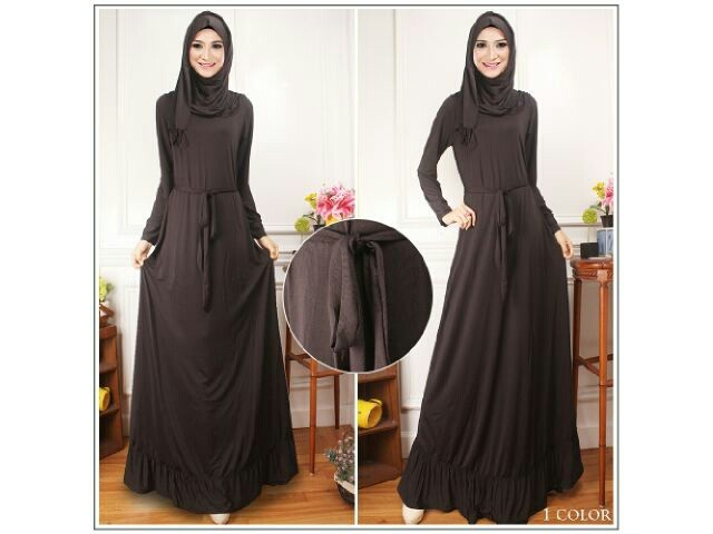 WH1129 Fashion Jubah Black