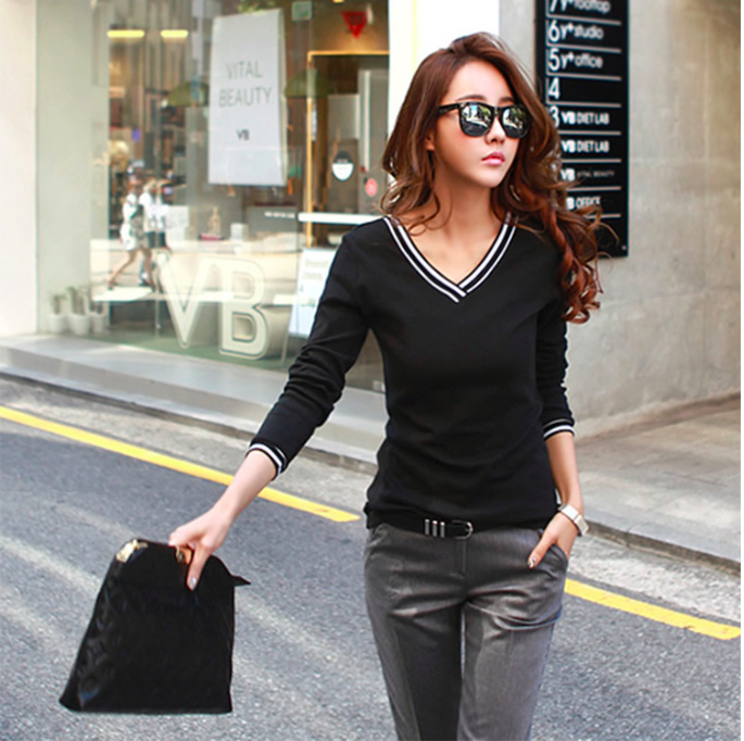 WT6603 Korea Fashion Top Black