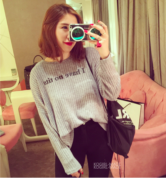 WT6604 Korea Fashion Top Grey