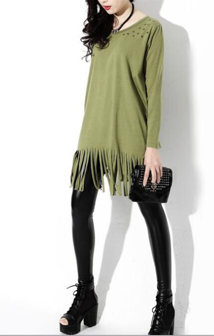 WT6649 Stylish Top Army Green