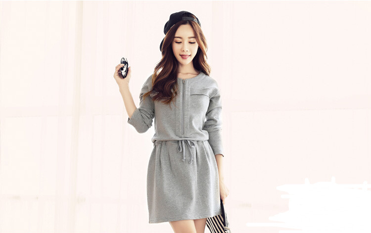 WD6669 Stylish Dress Grey
