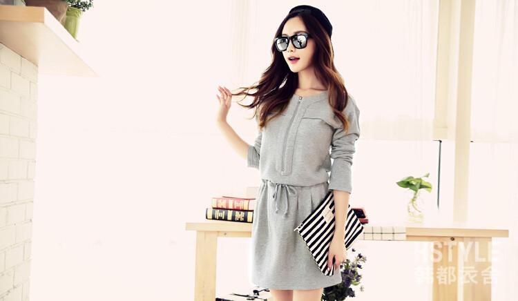 WD6669 Stylish Dress Grey