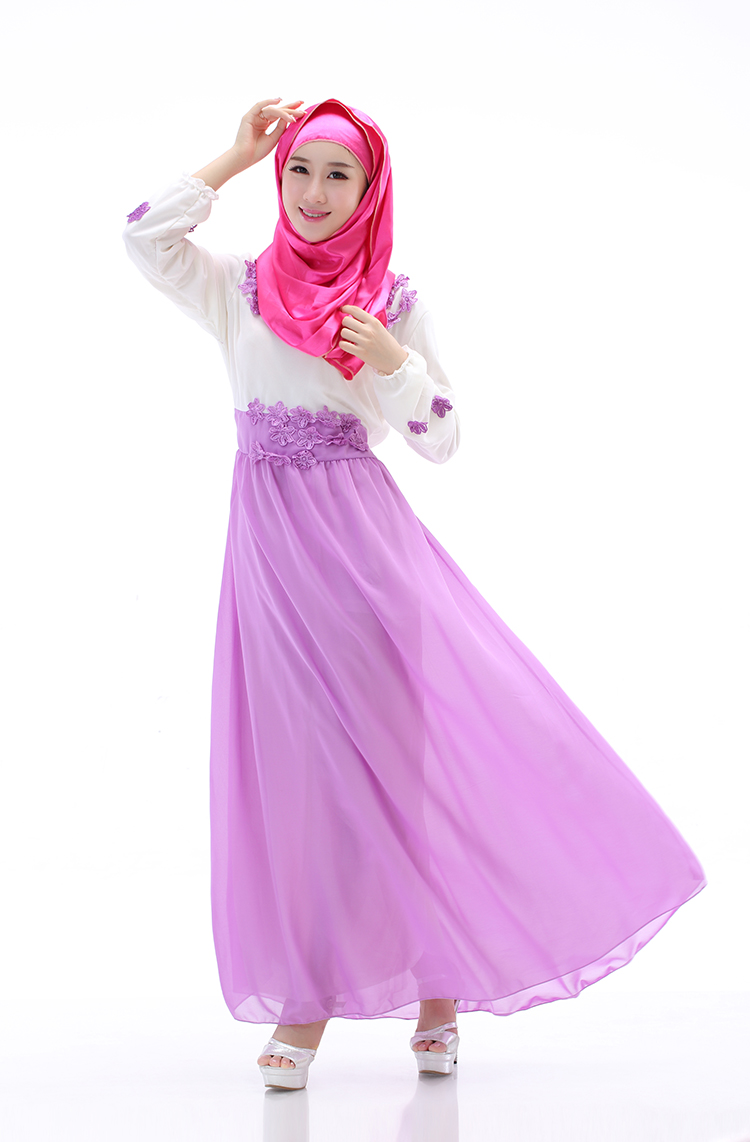WH3334 Lovely Jubah Purple