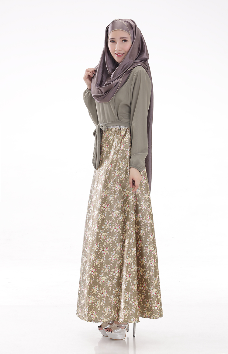 WH3336 Pretty Jubah Army Green