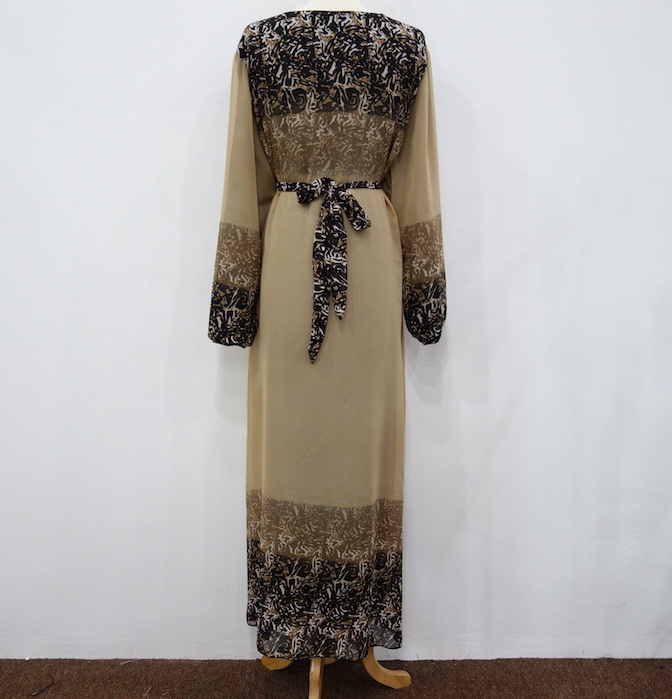 WH3339 Stylish Jubah Brown