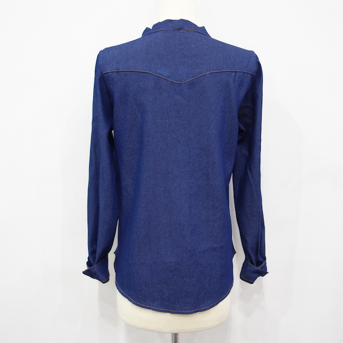 WT3610 Denim Top Dark Blue