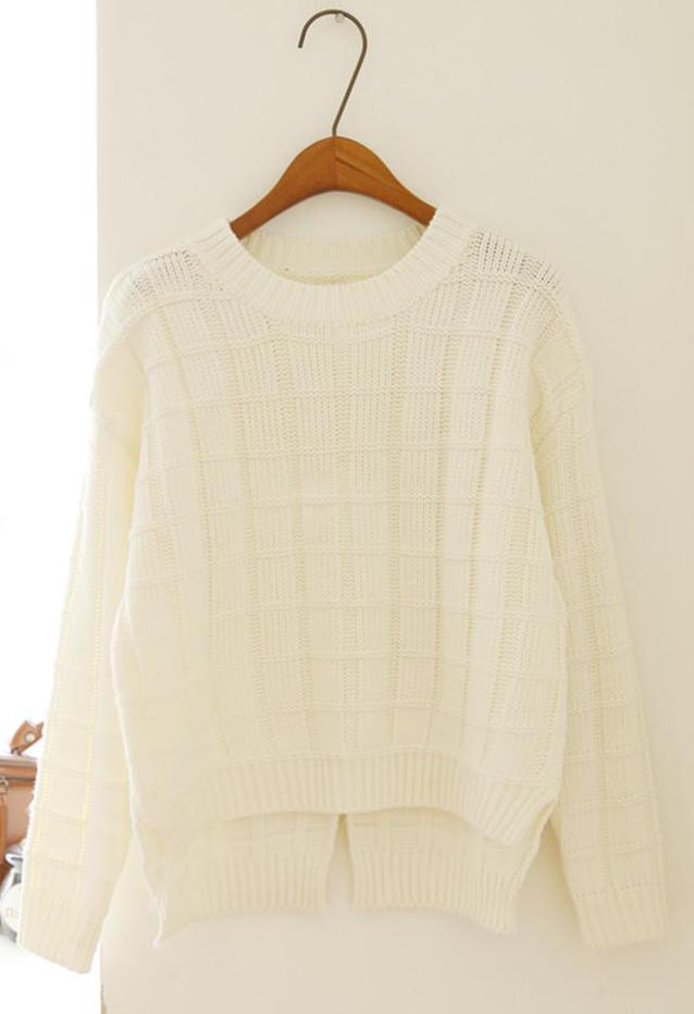 WT3612 Fashion Knit Top Almond