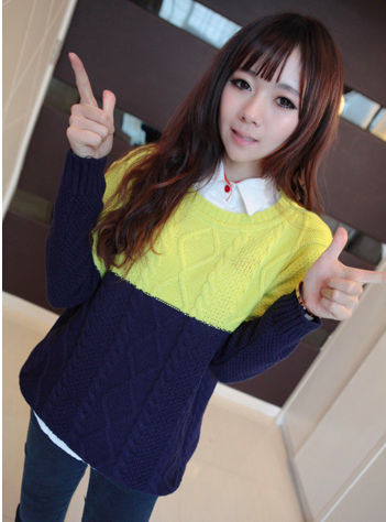 WT3614 Colourful Top Yellow