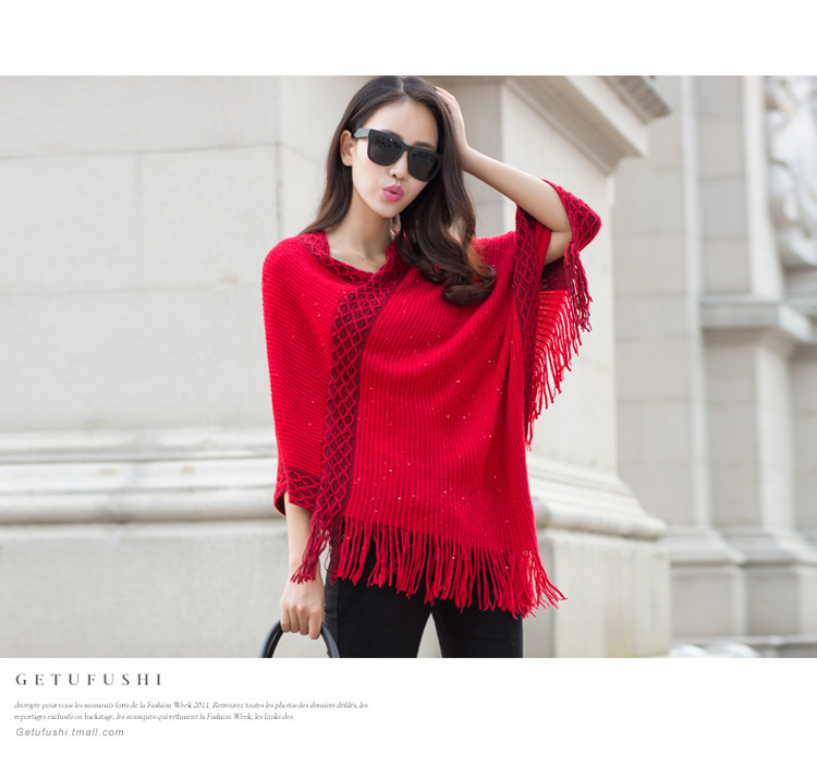 WT6749 Stylish Knit Top Red