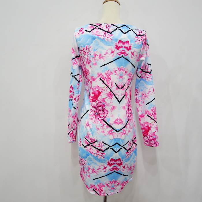 WD6758 Sexy Floral Dress As Picture