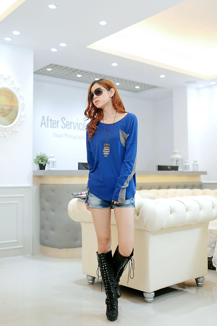 WT6777 Stylish Top Blue