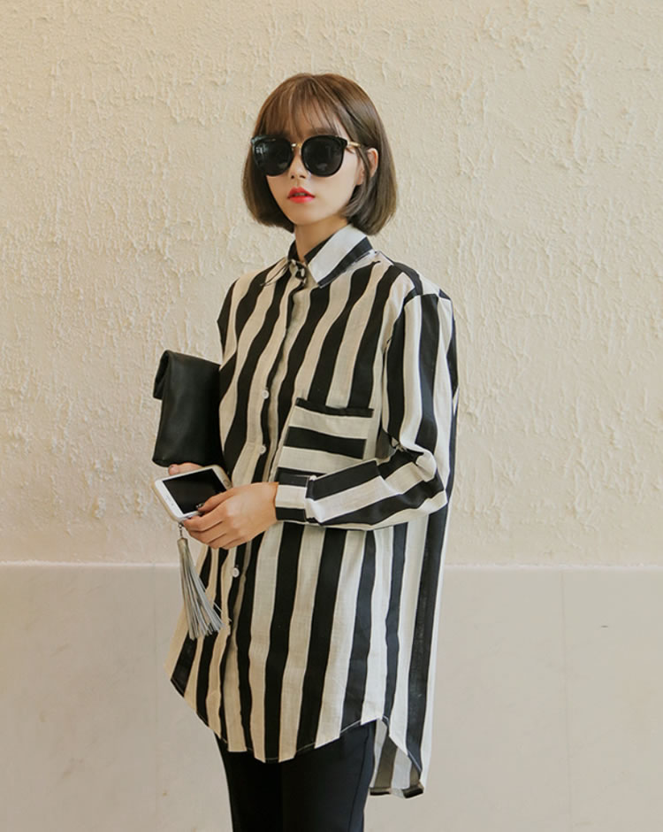 WT6778 Stripe Top As Picture