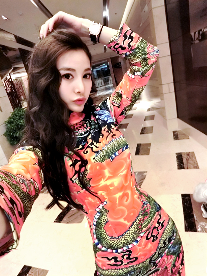 WC3249 Dragon Cheongsam As Picture