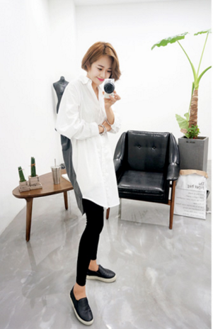 WT6787 Fashion Long Top As Picture