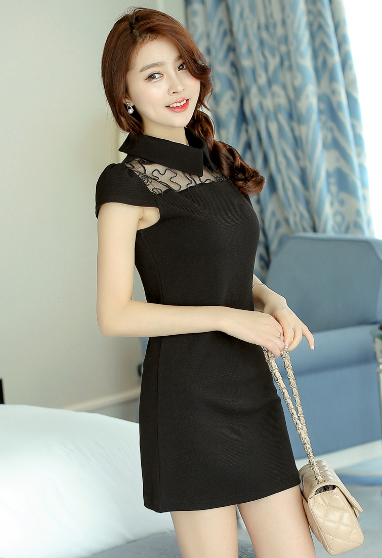 WD3649 Charming Dress Black