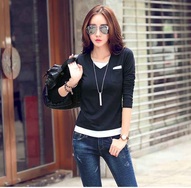 WT6887 Stylish Top Black